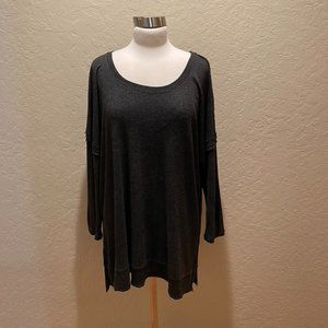 NWOT Anthropologie  lightweight charcoal tunic XL